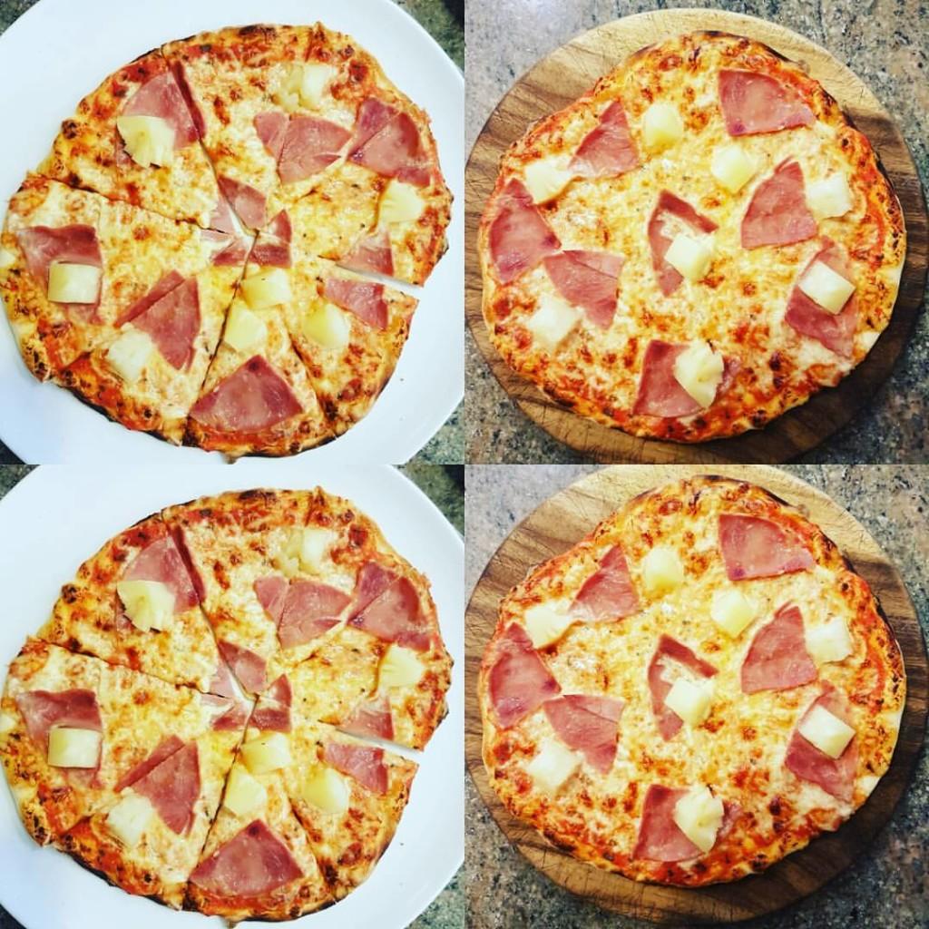 Vegane Pizza Hawaii